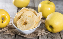 Portion of dried Apples Stock Photos