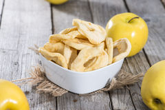 Portion of dried Apples Stock Images