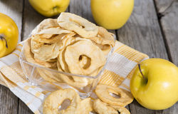 Portion of dried Apples Royalty Free Stock Image