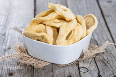 Portion of dried Apples Royalty Free Stock Images