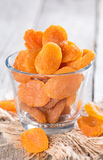 Portion of dried Apricots Royalty Free Stock Photography