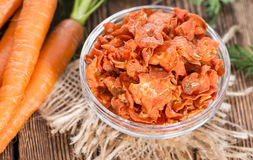 Portion of Dried Carrots stock photography