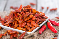 Portion of dried Chillies Royalty Free Stock Image