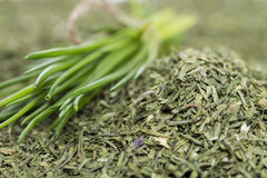 Portion of dried Chive Royalty Free Stock Photos
