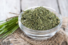 Portion of dried Chive Stock Images