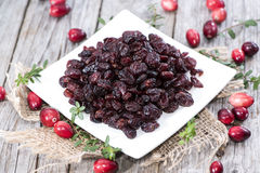 Portion of dried Cranberries Royalty Free Stock Photo