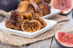 Portion of dried Figs Royalty Free Stock Photos