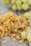 Portion of dried Grapes Royalty Free Stock Photos