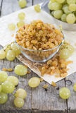 Portion of dried Grapes Royalty Free Stock Image