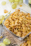 Portion of dried Grapes Stock Photography