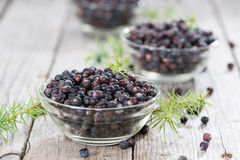 Portion of dried Juniper Berries Stock Photography