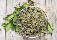 Portion of dried Mint Stock Photos