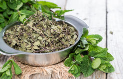 Portion of dried Mint Stock Images