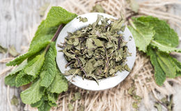 Portion of dried Mint Royalty Free Stock Photography