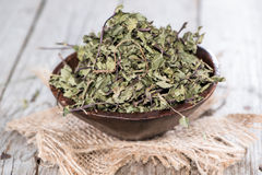 Portion of dried Mint Stock Photography