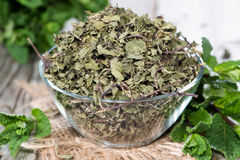 Portion of dried Mint Stock Image