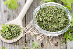 Portion of dried Parsley Stock Photo
