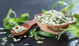 Portion of dried Tarragon Stock Image