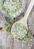 Portion of dried Tarragon stock photos