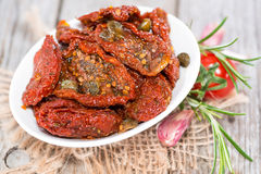 Portion of dried Tomatoes Royalty Free Stock Photography