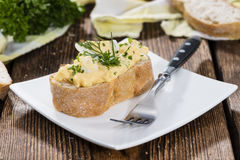 Portion of Egg Salad Royalty Free Stock Image