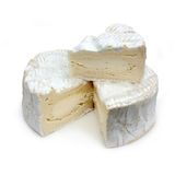 Portion of French cheese - Camembert (on a white b Stock Photography