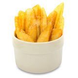 Portion of French fries (fried potatoes) in bowl, fastfood Stock Image