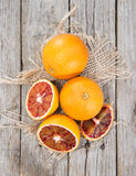Portion of fresh Blood Orange royalty free stock photography