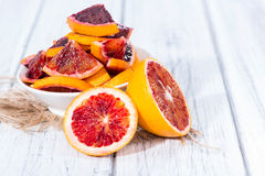 Portion of fresh Blood Orange royalty free stock photos