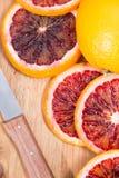 Portion of fresh Blood Orange Stock Image