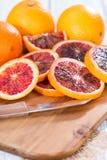 Portion of fresh Blood Orange Stock Photography