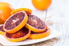 Portion of fresh Blood Orange Stock Photos