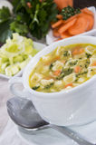 Portion of Soup Stock Image