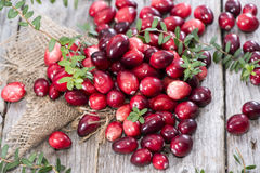 Portion of fresh Cranberries Royalty Free Stock Image
