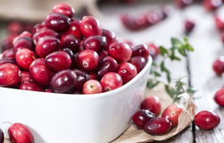 Portion of fresh Cranberries Stock Images