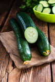 Portion of fresh Cucumbers Royalty Free Stock Photography