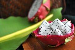 Portion of fresh dragon fruit Stock Photos