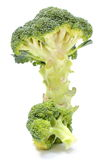 Portion of fresh green broccoli. White background Royalty Free Stock Photos