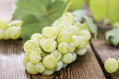 Portion of fresh Green Grapes Royalty Free Stock Photography