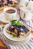 Portion of fresh homemade blueberry cake Stock Photos