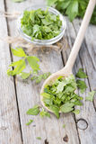 Portion of fresh Lovage Stock Images