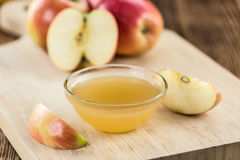 Portion of fresh made Applesauce (selective focus) Royalty Free Stock Image