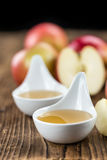 Portion of fresh made Applesauce (selective focus) Royalty Free Stock Photos