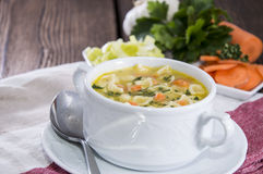 Portion of fresh made Soup Stock Photos