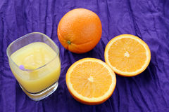 Portion of fresh made, freshly squeezed orange juice Royalty Free Stock Images