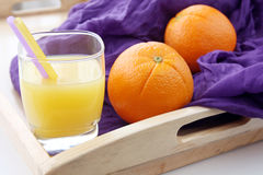 Portion of fresh made, freshly squeezed orange juice Stock Image