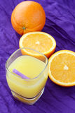 Portion of fresh made, freshly squeezed orange juice Royalty Free Stock Photography