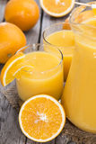 Portion of fresh made Orange Juice Stock Images