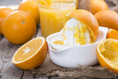 Portion of fresh made Orange Juice Royalty Free Stock Images