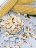 Portion of fresh made Popcorn Stock Photo